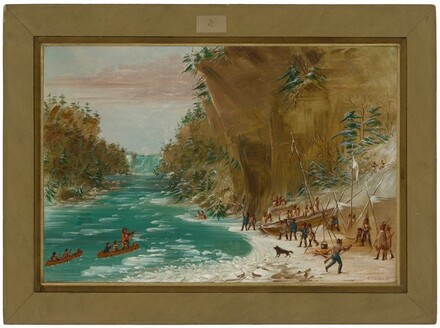 The Expedition Encamped below the Falls of Niagara.  January 20, 1679