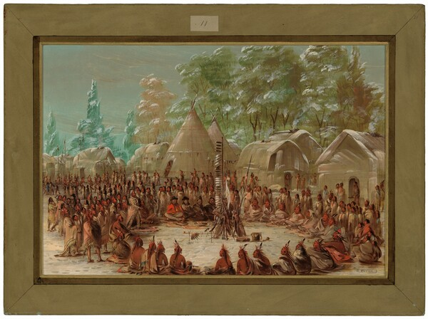 La Salle's Party Feasted in the Illinois Village.  January 2, 1680