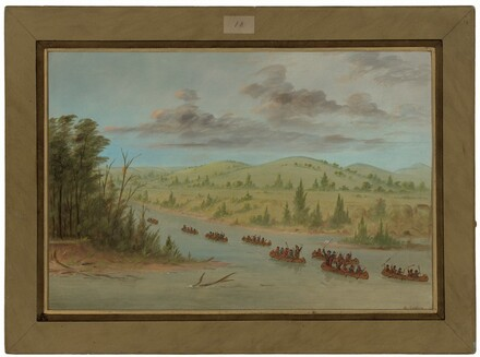 La Salle's Party Entering the Mississippi in Canoes.  February 6, 1682