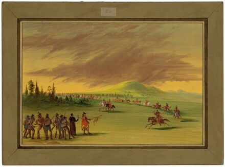 La Salle Meets a War Party of Cenis Indians on a Texas Prairie.  April 25, 1686