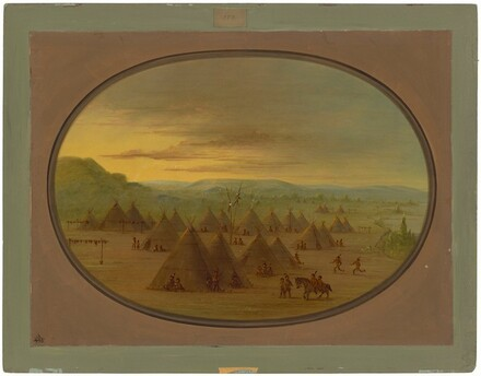 A Crow Village of Skin Tents on the Salmon River