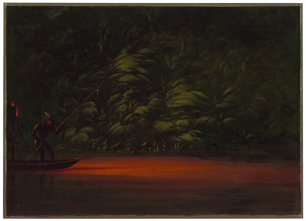 Spearing by Torchlight on the Amazon