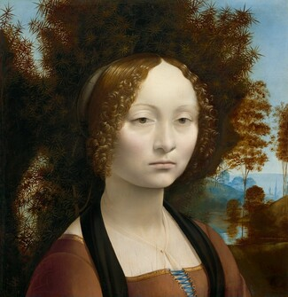 Leonardo da Vinci, Ginevra de' Benci [obverse], c. 1474/1478