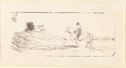 Carte-de-viste with Horseman (La Carte de visite au cavalier)