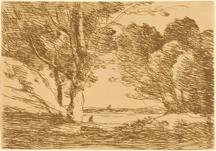 Tower on the Horizon of a Lake (Tour a l'horizon d'un lac)