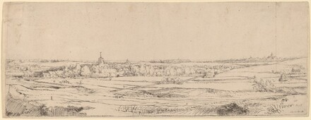 Landscape with a View Toward Haarlem (The Goldweigher's Field)