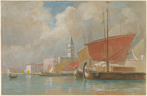 Shipping Along the Molo in Venice
