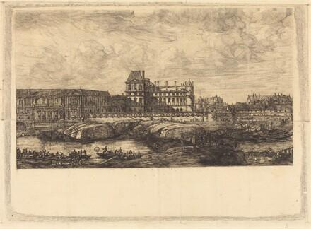 L'ancien Louvre d'après une peinture de Zeeman, 1651 (The Old Louvre, from a Painting by Zeeman, l651)
