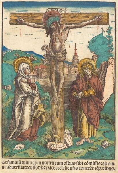Christ on the Cross Between the Virgin and Saint John