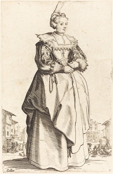 Noble Woman with a Small Hat