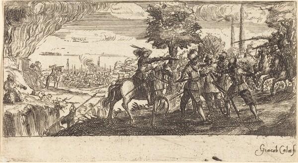Landscape with Battle Scene