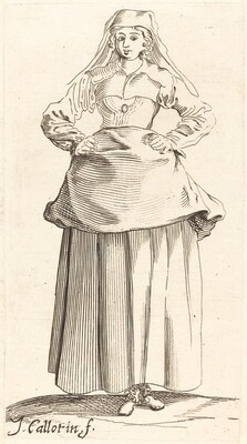 Young Woman with Hands on Hips, Front View