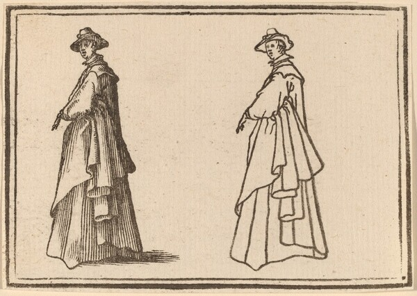 Standing Woman in a Great Coat
