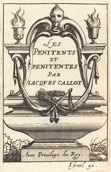 Frontispiece for Callot's The Penitents