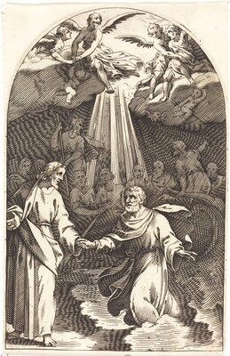 Christ Walking on the Water [first plate]