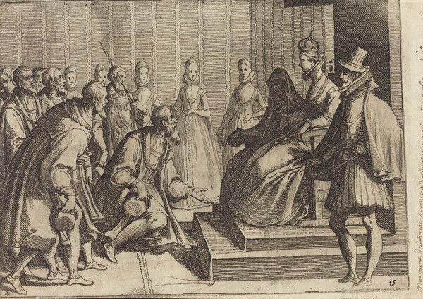 Margaret of Austria Giving Audience to a Nobleman [verso]