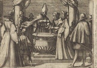 Baptism of the Prince of Spain [verso]