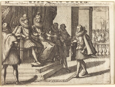 King and Queen in Consultation about the Turks [recto]