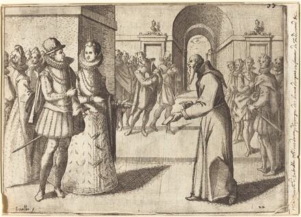 A Capucin bringing the thanks of the King of Bavaria [recto]