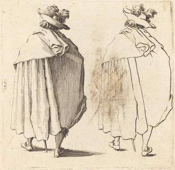 Man in Cloak, Seen from Behind