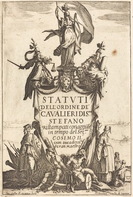 Frontispiece for the Statutes of the Order of the Knights of Saint Stephen