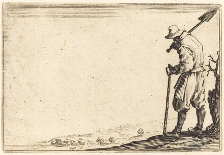 Peasant with Shovel on His Shoulder