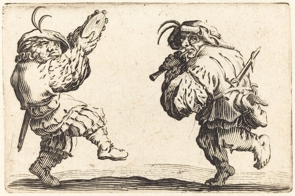 Dancers with Flute and Tambourine