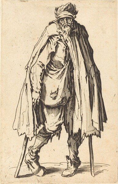Beggar with Crutches and Sack