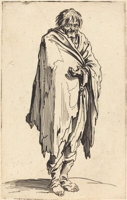 Beggar with Bare Head and Feet