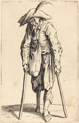 Beggar with Wooden Leg