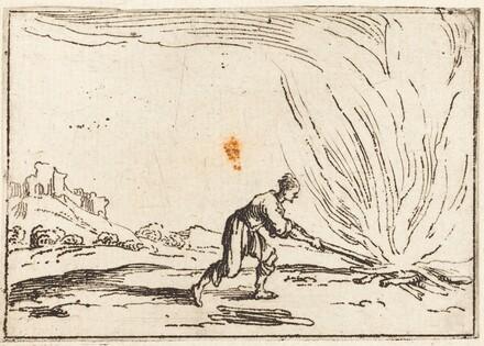 Man Attending a Fire