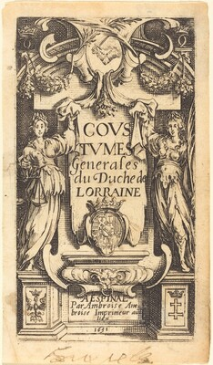 Frontispiece for The Customs of Lorraine