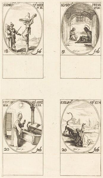 St. Simeon; St. Gabinius; St. Eucharius; St. Silvanus