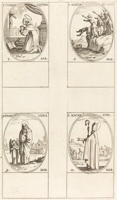 St. Thomas Aquin; St. Adrian and Companions; St. Frances; St. Macari