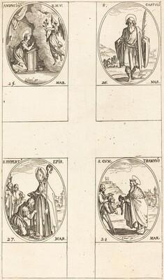 The Annunciation; St. Castulus; St. Rupert; St. Gontran