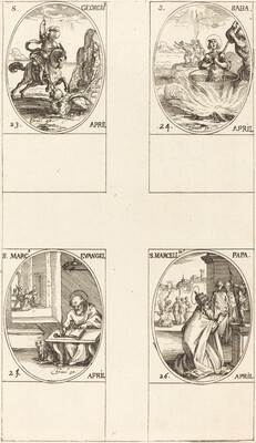 St. George; St. Sabas; St. Mark, Evangelist; St. Marcellin
