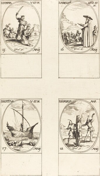 St. Dympna; St. Peregrinus; St. Restituta; St. Dioscorus
