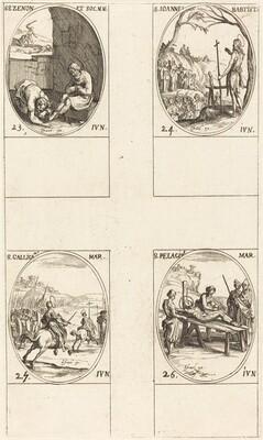 St. Zenon and Companions; St. John the Baptist; St. Gallicanus; St. Pelagius