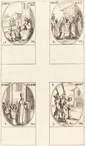 St. Simeon Salus; The Visitation; Deposition of the Virgin's Clothes; St. Hiacintus