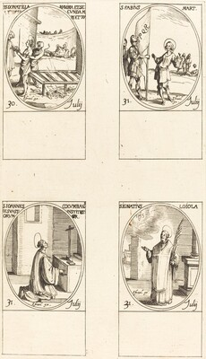 Sts. Donatilla, Maxima & Secunda; St. Fabius;St. John Colombini; St. Ignatius Loyola