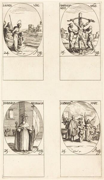 St. Aurea; St. Bartholomew; St. Louis; St. Genesius