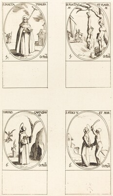 St. Theresa; St. Placidus and Flavia; St. Bruno; St. Faith