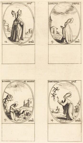 St. Maximilian; St. Carpus; St. Daniel and Angelus; St. Fortunatus