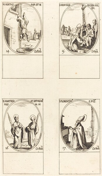 St. Calixtus; St. Hedwiges; Sts. Martinian and Saturian; St. Florentinus