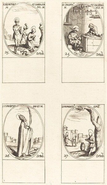Sts. Chrysanthus & Daria; Sts. Crispin & Crispinian; St. Evaristus; St. Frumentius