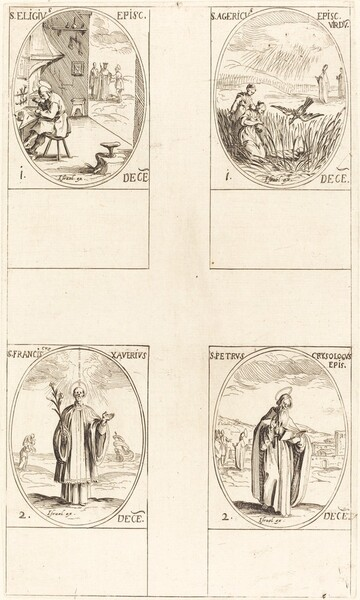 St. Eligius; St. Agericus; St. Francis Xavier; St. Peter Chrysologus