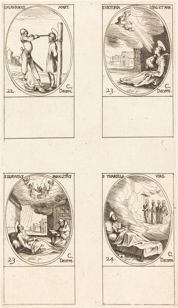 St. Flavian; St. Victoria; St. Servulus; St. Tharsilla