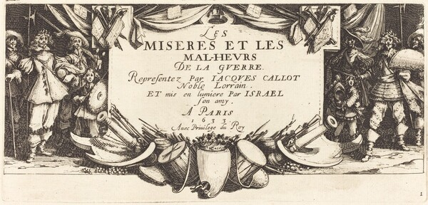 Title Page for The Large Miseries of War