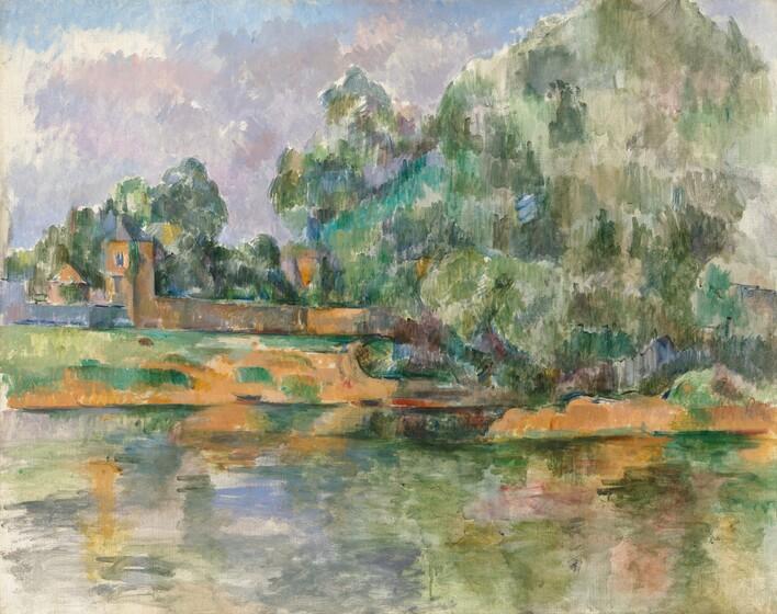 Paul Cézanne, Banks of the Seine at Médan, c. 1885/1890c. 1885/1890