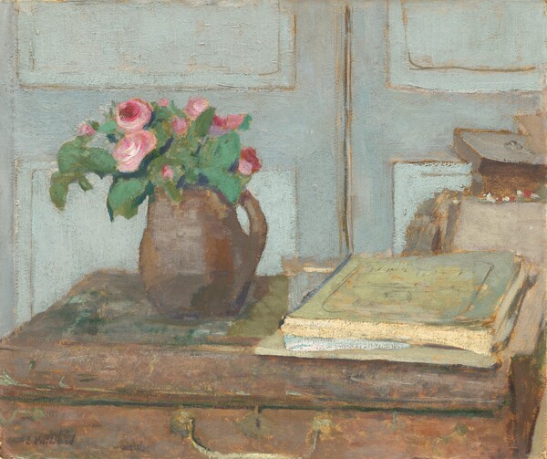 The Artist's Paint Box and Moss Roses